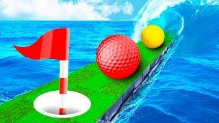 МЕТКИЙ УДАР ПО УЗКОЙ ТРОПИНКЕ ПРЯМИКОМ В ЛУНКУ! ПРОШЛИ 100% САМУЮ СЛОЖНУЮ ЛУНКУ В ГОЛЬФ ИТ (Golf It)