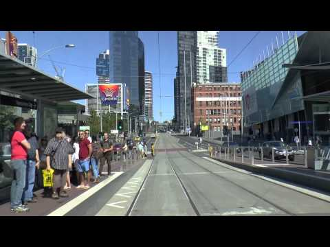Melbourne Trams - A typical Sunday on Route 96 March 2015 Tram Drivers View