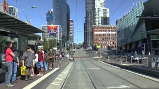 Melbourne Trams - A typical Sunday on Route 96 March 2015 Tram Drivers View thumbnail