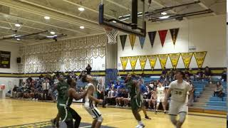 Dylan Kaufman scores in the post