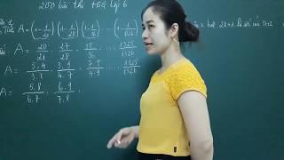 Toán nâng cao lớp 6- đề thi học sinh giỏi lớp 6 [200 bài thi học sinh giỏi hay nhất bài 1]