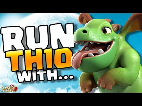 Baby Dragons Take Over TH10 | Clash Of Clans