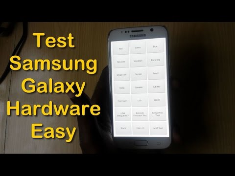 Easily Test Samsung Galaxy Hardware (dead pixels,camera,speakers & more  )