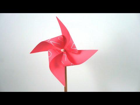 Einfach mit Papier basteln: Windräder