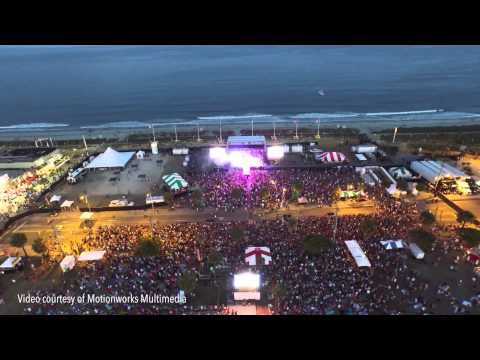 Aerial footage from Carolina Country Music Festiva