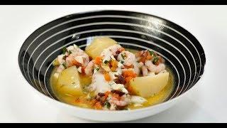 Лойн трески с отварным картофелем и норвежским соусом | КПЗ. Офлайн