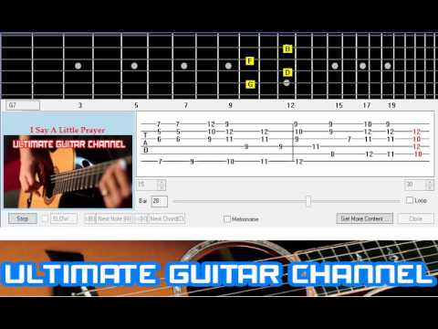 Guitar Solo Tab I Say A Little Prayer Burt Bacharach Youtube
