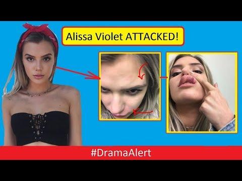 Alissa Violet ATTACKED! (FOOTAGE) #DramaAlert FaZe Banks BREAKS Hand Defending Her!
