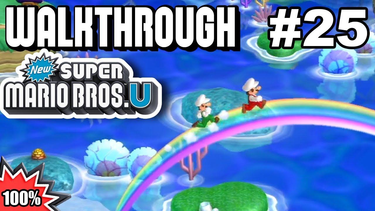 New Super Mario Bros U 100 Multiplayer Walkthrough Part 25 Secret Exits 1 Youtube