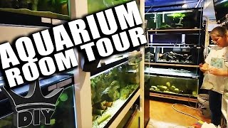 THIS AQUARIUM FISH ROOM IS ONE OF THE BEST!!