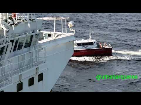 """Pilot Vessel """"DELTA CHARLIE""""/Oil Tanker """"CONQUEST""""/SHIP TO SHIP TRANSFER OPERATION/TOP OFF OPERATION"""
