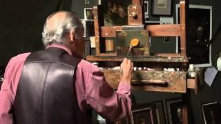 David Leffel: Still life with orange.