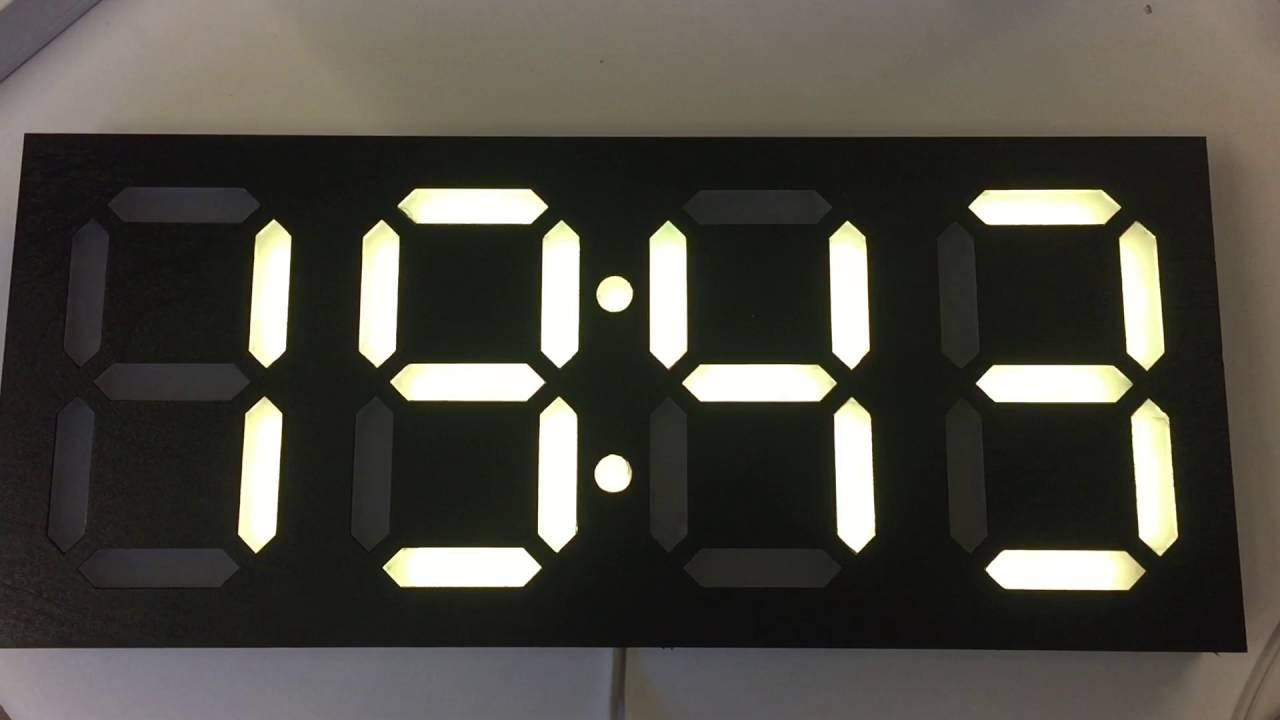 Large 7 Segment Clock Youtube