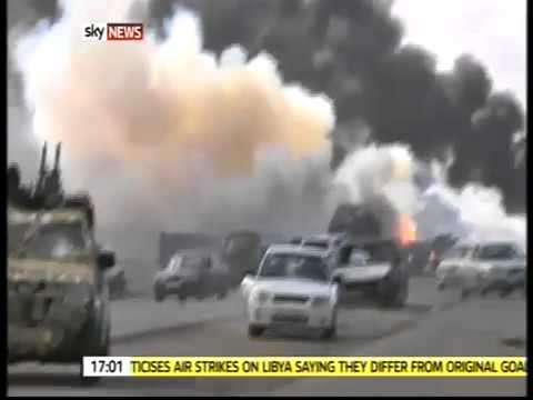 ALLIED FRENCH AIRCRAFT- BOMB GADDAFI FORCES IN LIBYA 2011