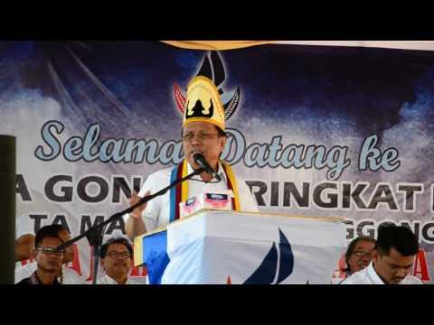 Dato Sri Syafie Apdal Berucap dalam Siri Jelajah Parti Warisan Sabah Di Sikuati Kudat