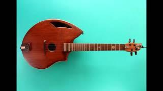 """Shell back Baritone ukulele. Handmade bespoke musical instrument. """"Boondock"""""""