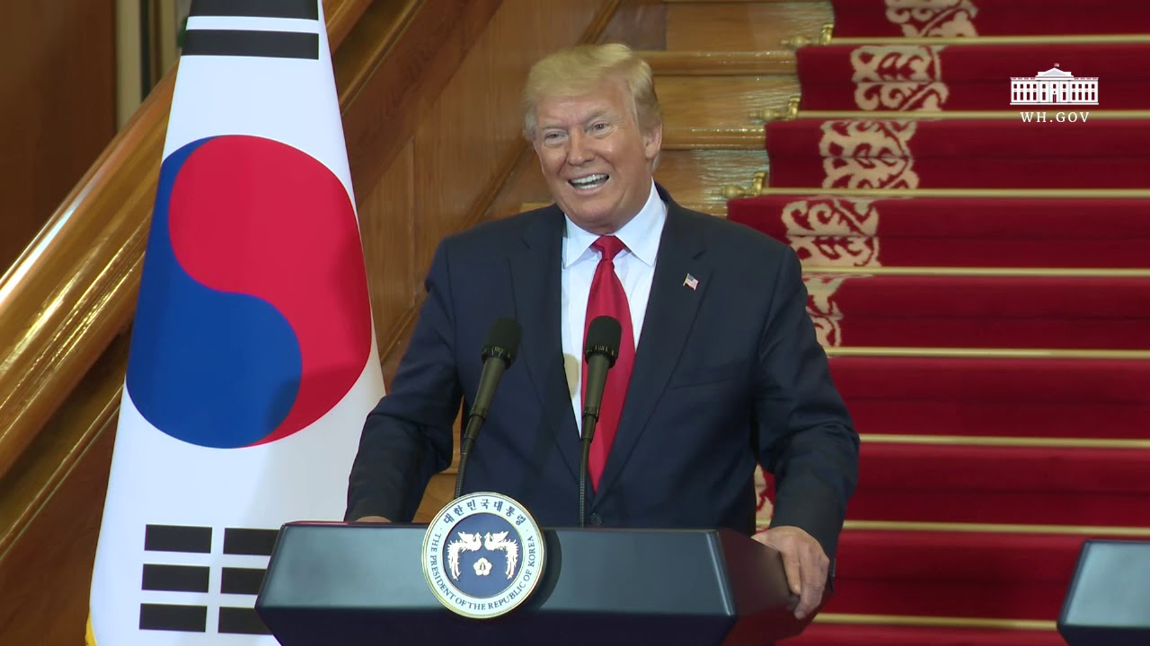 The White House President Trump Holds a Joint Press Conference with the President of the Republic of