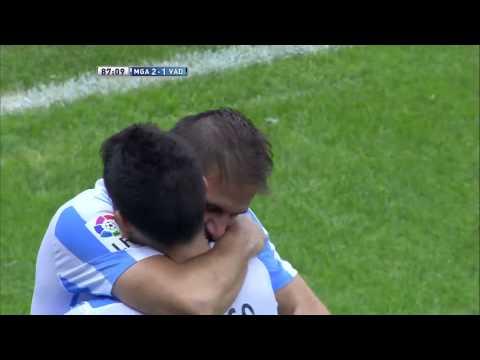 La Liga   Gol de Joaquín (2-1) en el Málaga CF - Real Valladolid   20-10-2012   J8