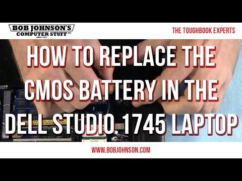 How To Replace The CMOS Battery In The Dell Studio 1745 Laptop