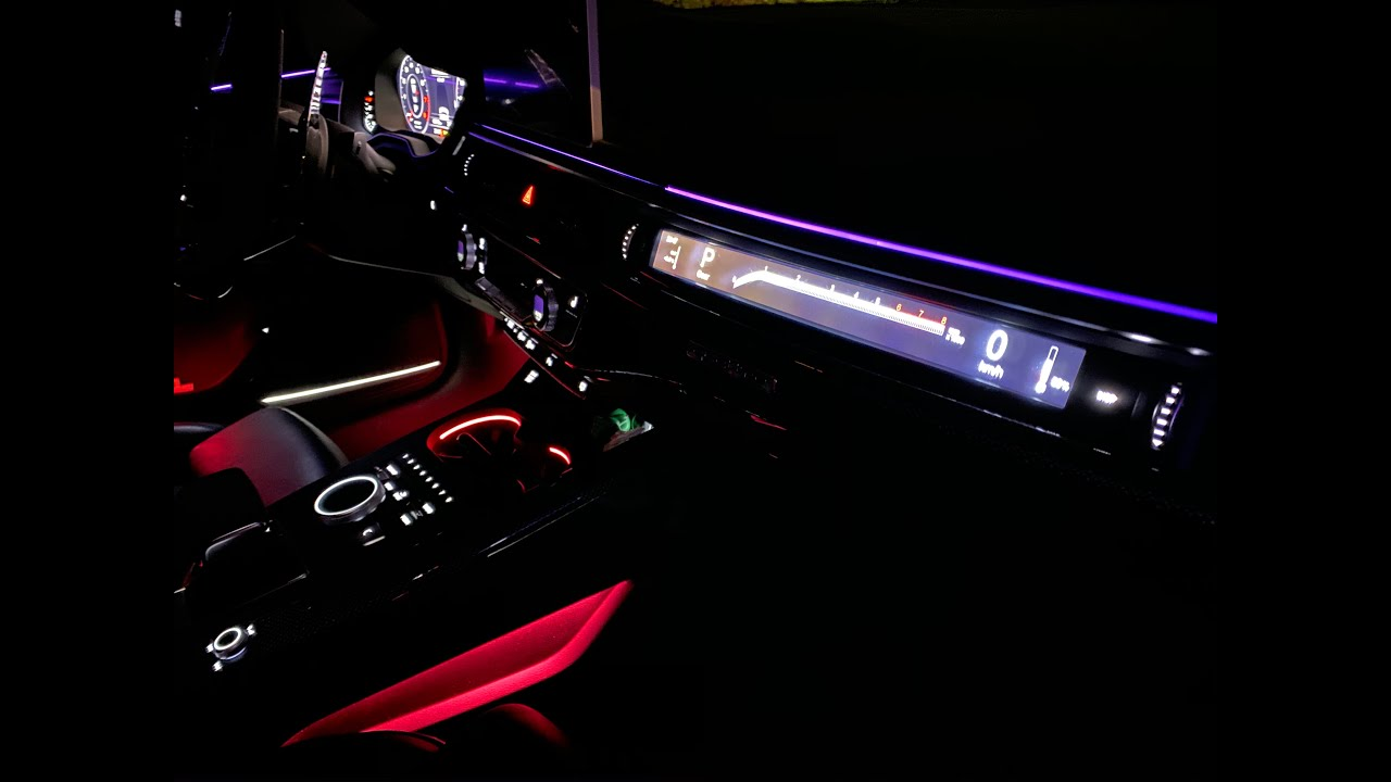 Added Additional Ambient Lighting on Audi A4 b9 - YouTube   Audi A5 2017 Ambient Lighting      YouTube
