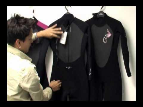 a011a7157d O neill Epic 4 3 Women s Wetsuit - PleasureSports.com - YouTube