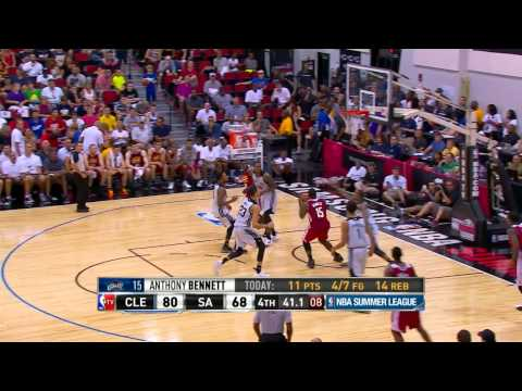 Anthony Bennett Puts Up A Double Double Vs The Spurs