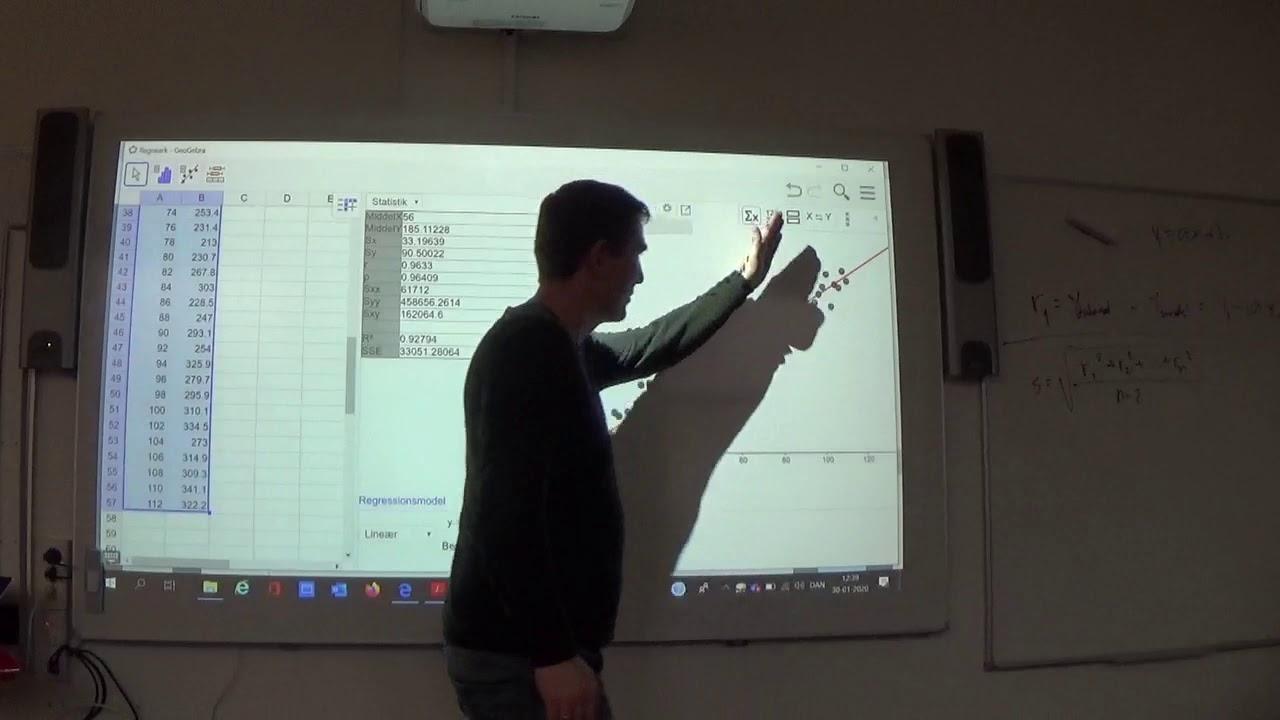 Mat B 7.3c Residualspredning vha. Geogebra