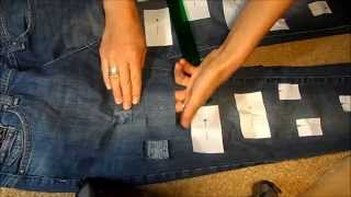 как сделать модные джинсы,эстетические дырочки на джинсах,как украсить джинсы