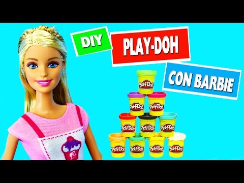 Cómo hacer plastilina en miniatura para muñecas - Haz Manualidades con Barbie