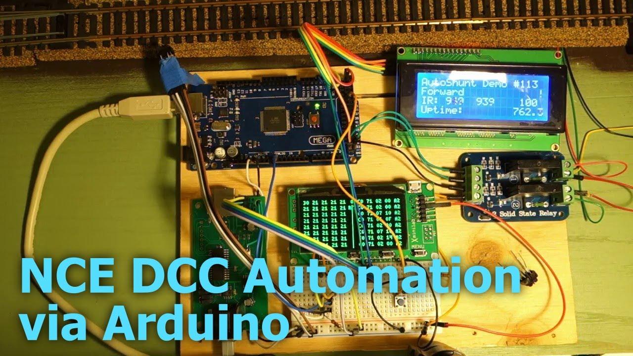 NCE DCC Automation via Arduino