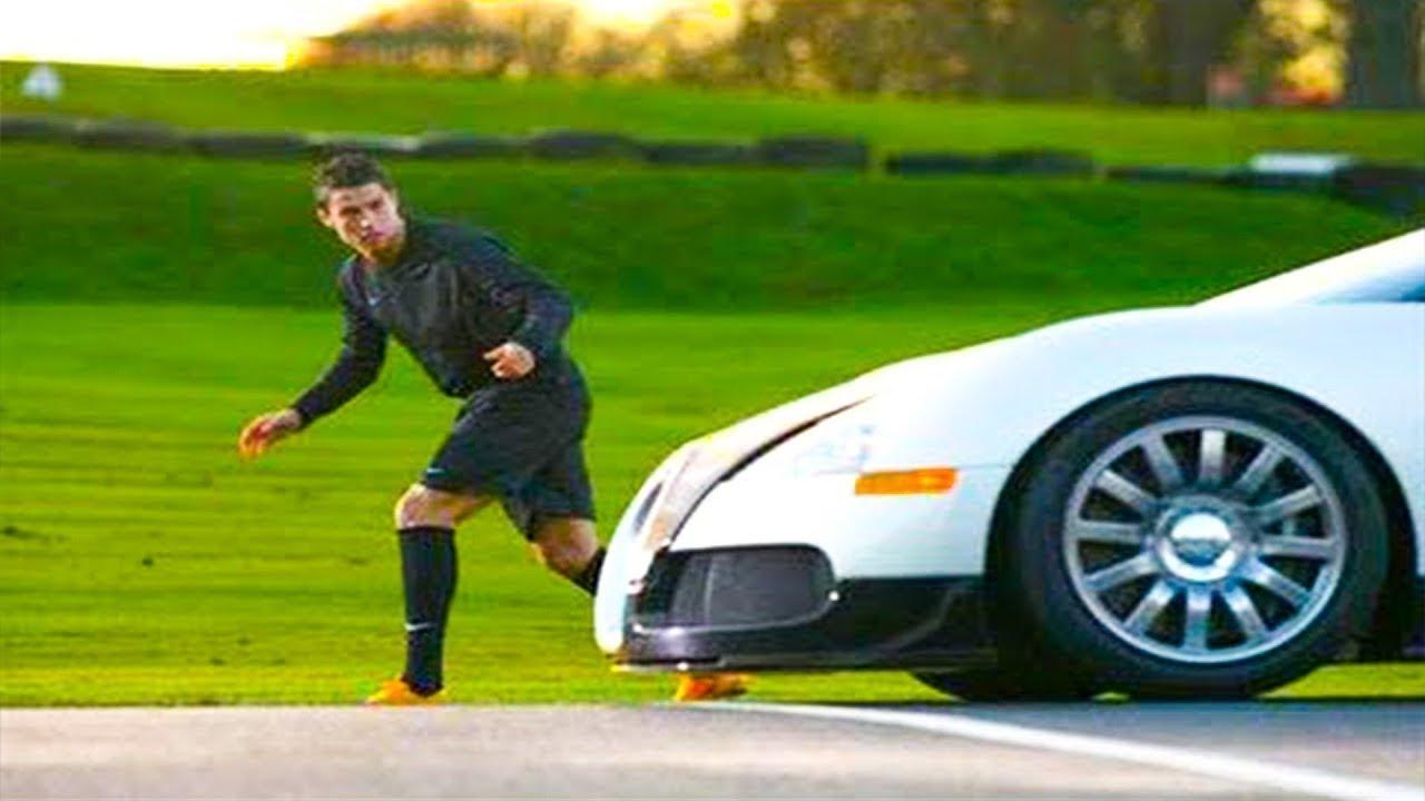 Cristiano Ronaldo, Dünyanın En Hızlı Arabasına Karşı Yarıştı - En Hızlı Hangisi ?