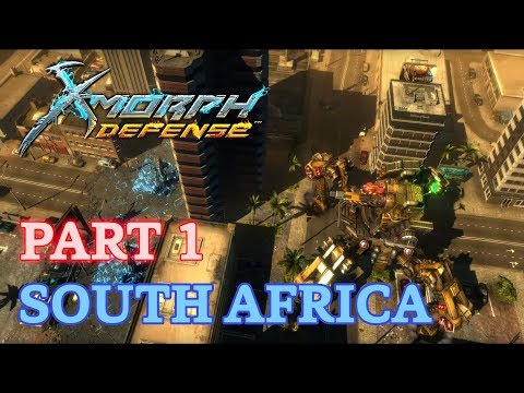 X-Morph: Defense Walkthrough - New Game - Part 1 - South Africa (No Commentary)