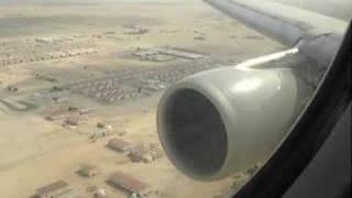 Qatar Airways landing in Doha Amazing View!