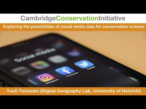 Exploring the possibilities of social media data for conservation science
