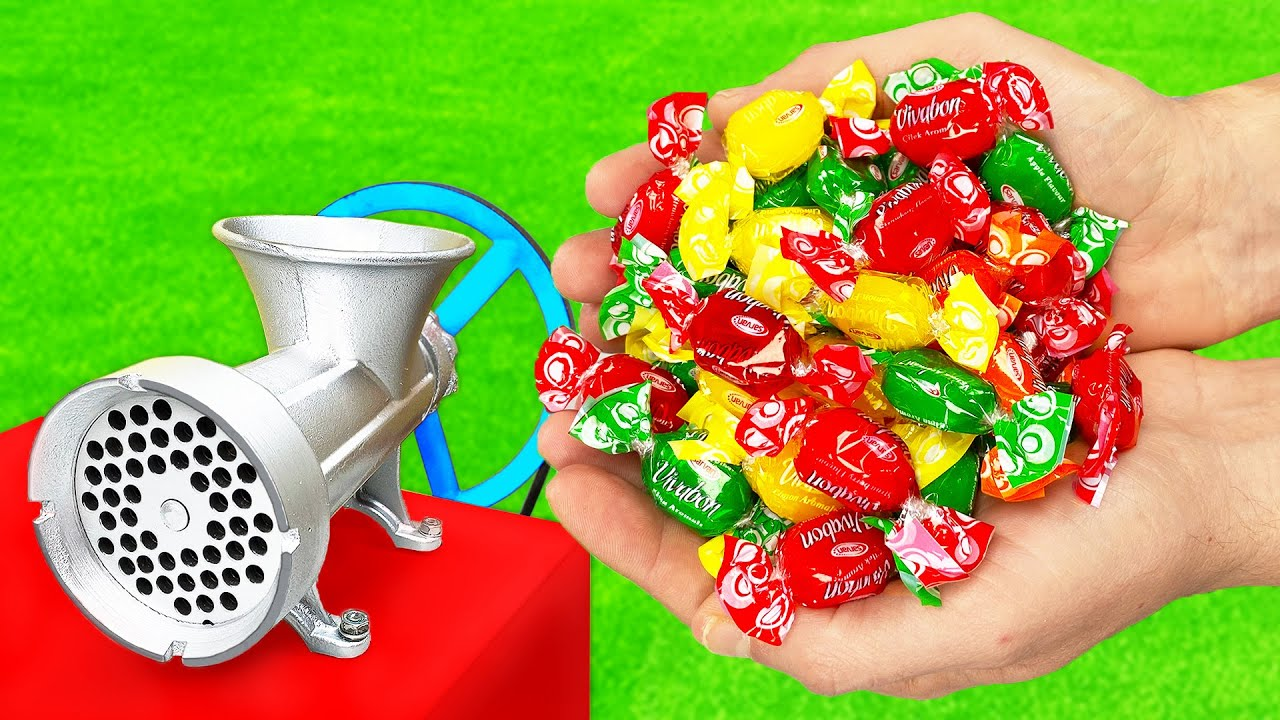 EXPERIMENT: COLORFUL CANDY vs MEAT GRINDER