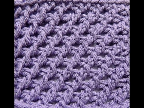 Punto # 5 en Crochet Tunecino - YouTube