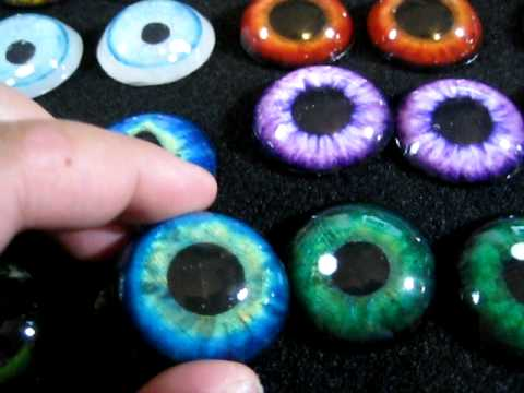 Resin cast eyes