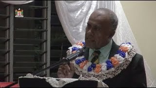 Fijian Minister for Youth and Sports Hon. Laisenia Tuitubou officia...