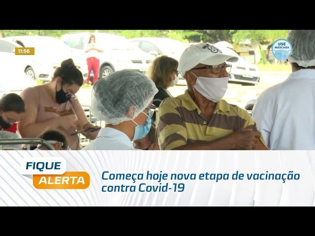 Começa hoje nova etapa de vacinação contra Covid-19; agora é a vez dos idosos de 79 anos
