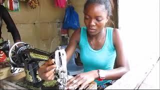 Témoignage de Divine NGONGO formée en Coupe et Couture par HPP-Congo et en activité.