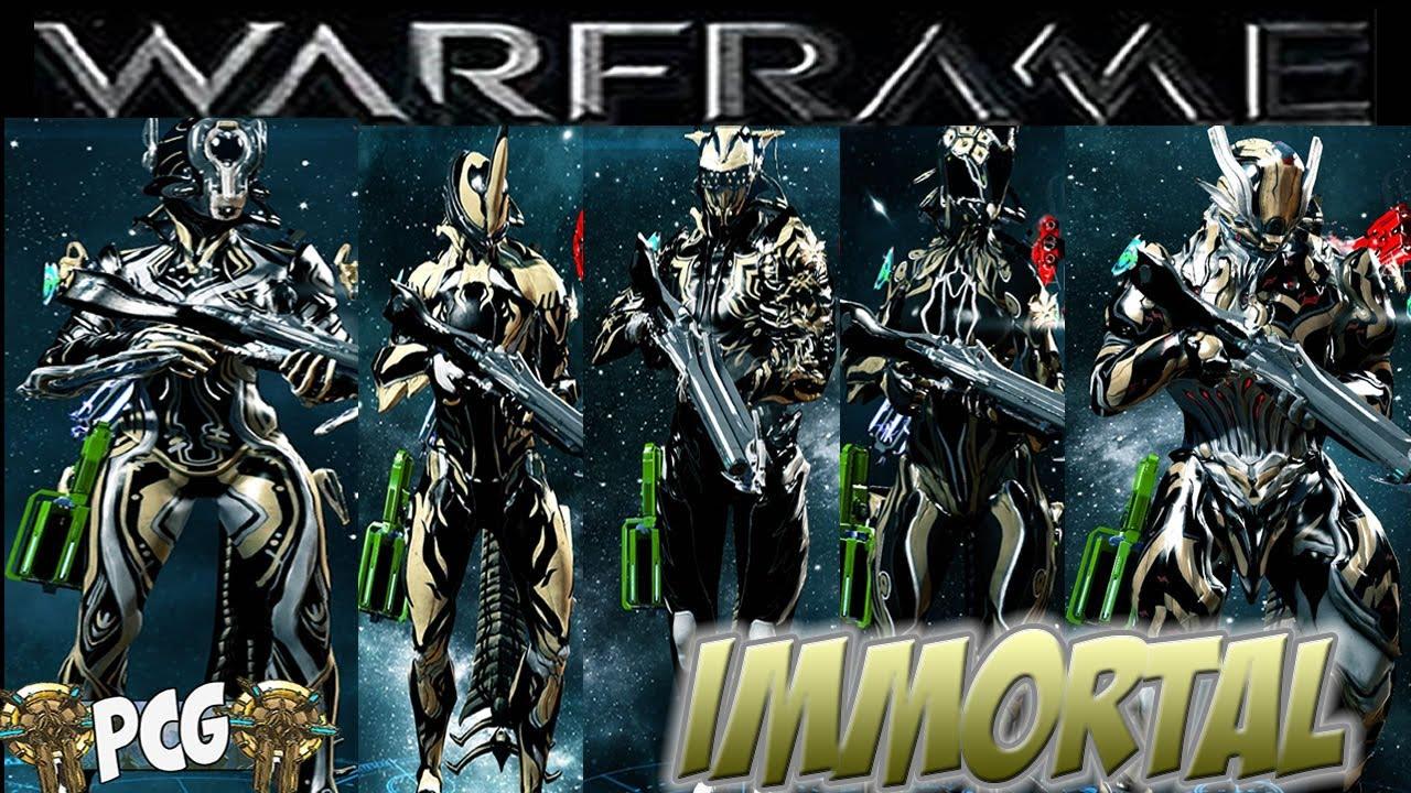 Warframe 11 Immortal Skin Bundle On All Warframes Pcg Approved