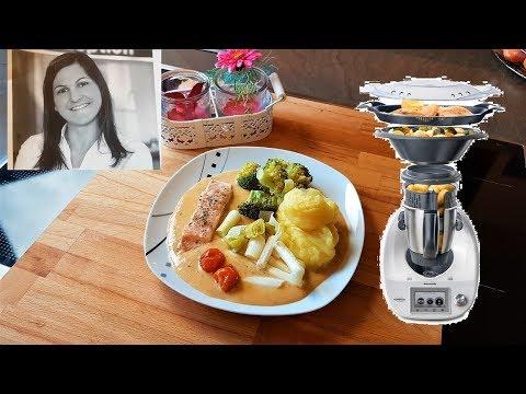 turmkochen-mit-dem-thermomix---gemüse-fisch-platte-mit-kartoffelpüree-und-paprikasauce