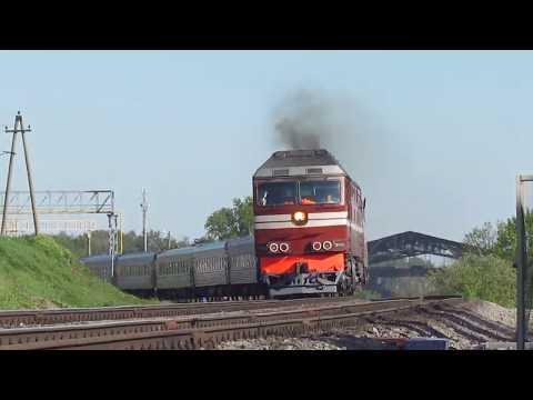 ТЭП70-0554 с поездом 135 Махачкала - СПб на перегоне Криволучье - Тула-3 МСК ж.д.