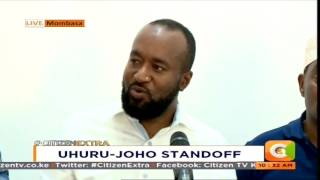 Joho blasts Uhuru, Jubilee for blocking him from attending rally