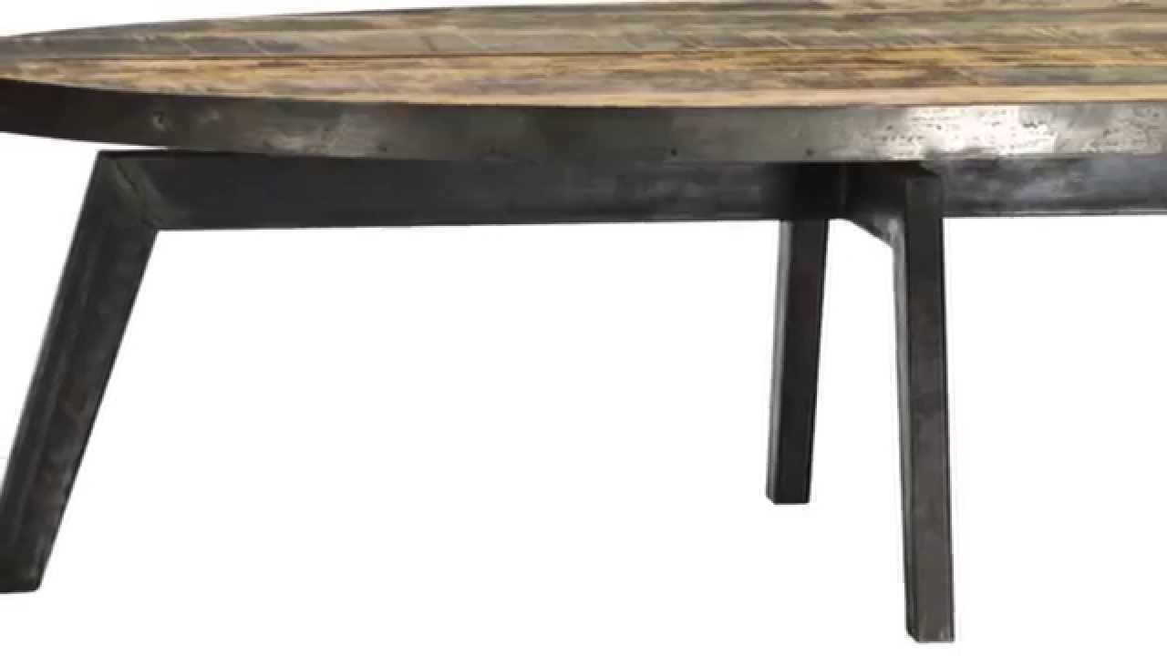 Vintage Industrial Furniture Tables Design Iron Old Reclaim Wood
