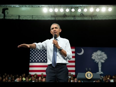 President Obama Holds a Town Hall at Benedict College