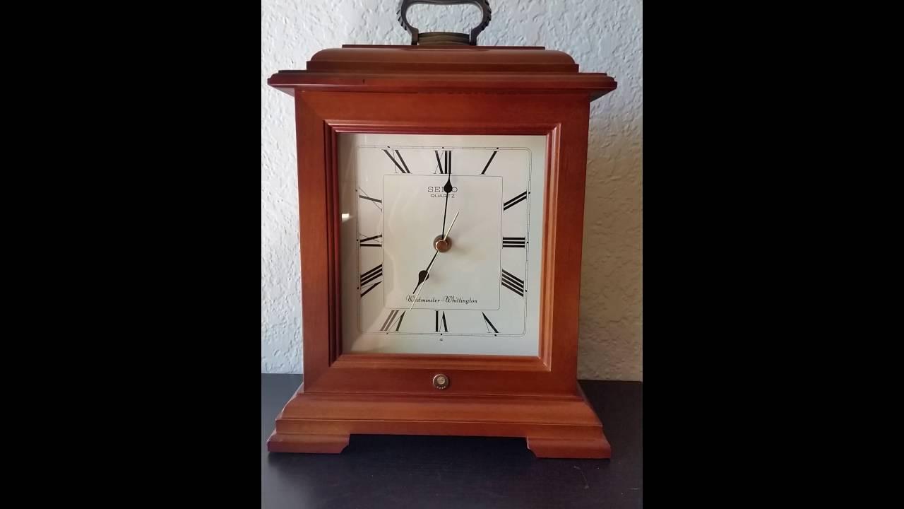 Wooden Seiko Quartz Clock Battery Chime Clock