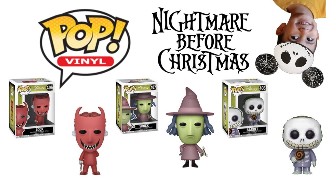 Disney\'s Nightmare Before Christmas Lock Shock and Barrel Funko POP ...