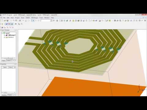 ANSYS Electromagnetics Spiral Inductor Part 1   Geometry