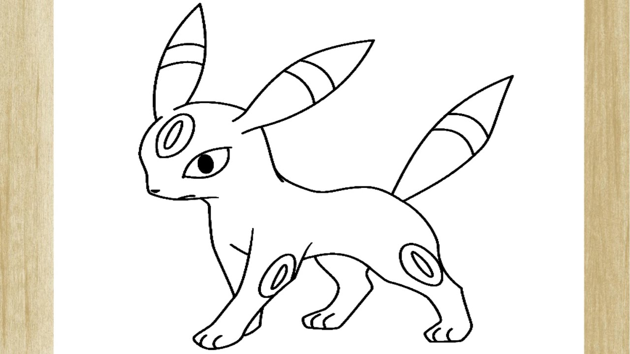 Como Desenhar O Pokemon Umbreon How To Draw Umbreon Pokemon